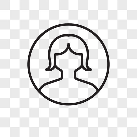 Icône de vecteur d'avatar isolé sur fond transparent, concept logo Avatar Logo