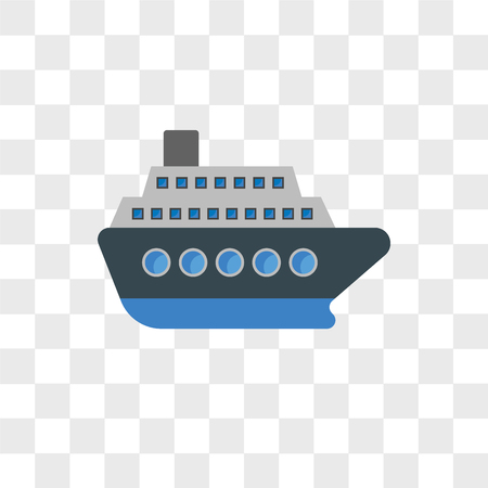 Cruise vector icon isolated on transparent background, Cruise logo concept