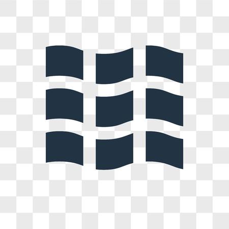 Icono de vector de azulejo aislado sobre fondo transparente, concepto de logo de azulejo