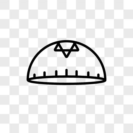 Kippah vector icon isolated on transparent background, Kippah logo concept Logo