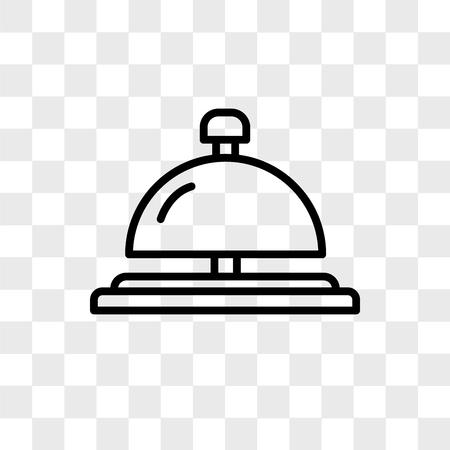 Icône de vecteur de concierge bell isolé sur fond transparent, concept logo concierge bell Logo