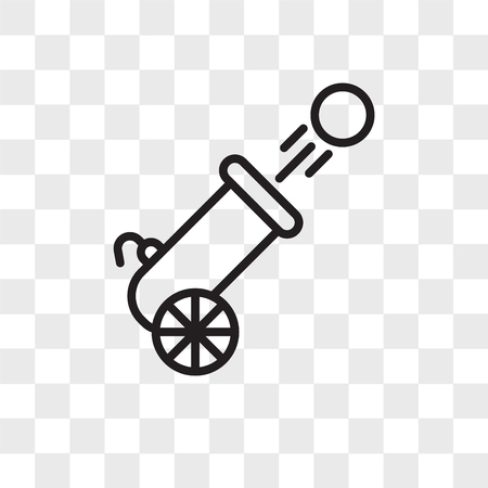 Cannon vector icon isolated on transparent background, Cannon logo concept