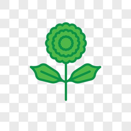 Icône de vecteur de pivoine isolé sur fond transparent, concept logo pivoine Logo