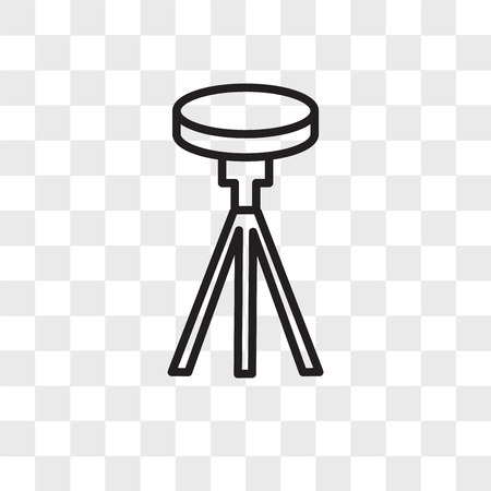 Tripod vector icon isolated on transparent background, Tripod logo concept