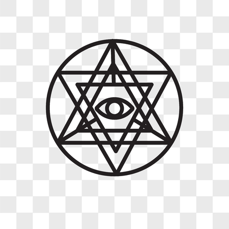 Sri yantra vector icon isolated on transparent background, Sri yantra logo concept Illustration
