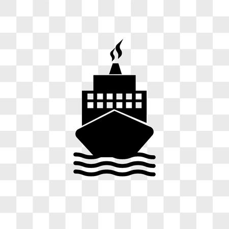 Boot von der Vorderansichtvektorsymbol lokalisiert auf transparentem Hintergrund, Boot vom Vorderansichtlogokonzept Logo