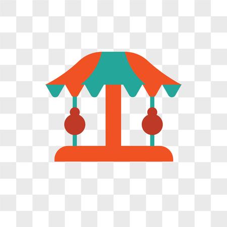 Icono de vector de carrusel aislado sobre fondo transparente, concepto de logo de carrusel