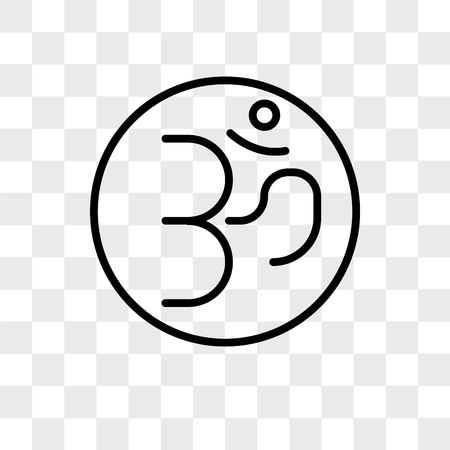 Om vector icon isolated on transparent background, Om logo concept Illustration