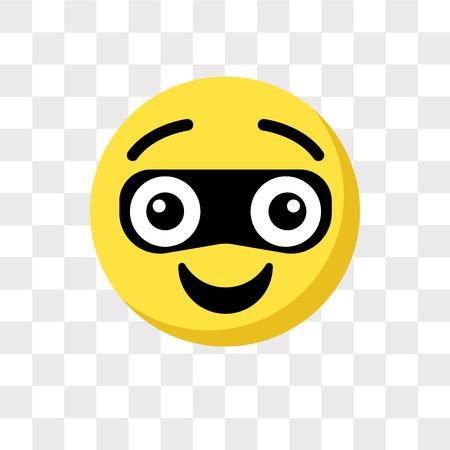 Thief emoji vector icon isolated on transparent background, Thief emoji logo concept