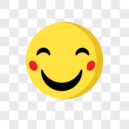Szczęśliwy emoji wektor ikona na białym tle na przezroczystym tle, koncepcja logo Happy emoji
