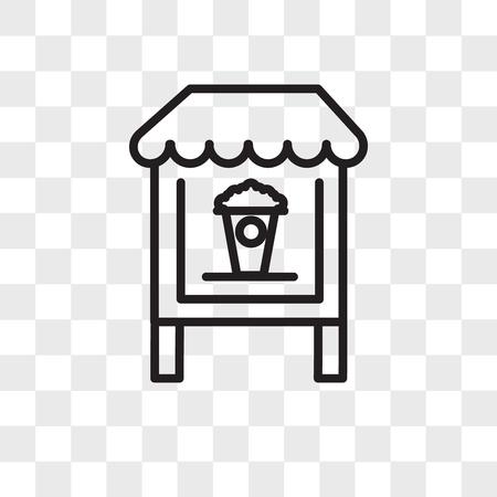 Popcorn vector icon isolated on transparent background, Popcorn logo concept Vettoriali