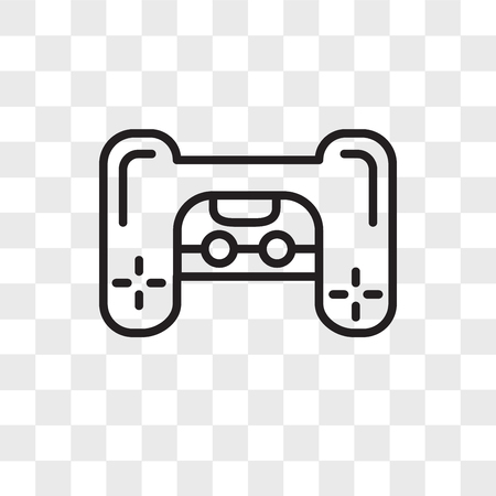 Playstation vector icon isolated on transparent background, Playstation logo concept