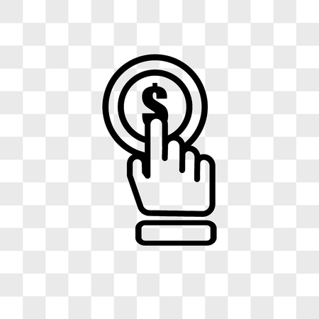 click vector icon isolated on transparent background, click logo concept