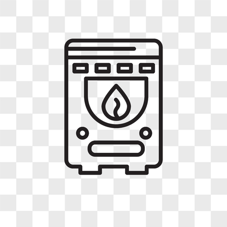 Boiler vector icon isolated on transparent background, Boiler logo concept Иллюстрация