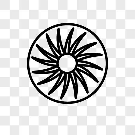 icono de vector de ventilador aislado sobre fondo transparente, concepto de logo de ventilador Logos