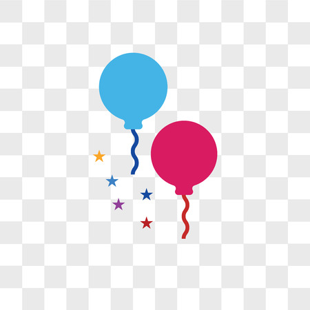 Balloons vector icon isolated on transparent background, Balloons logo concept