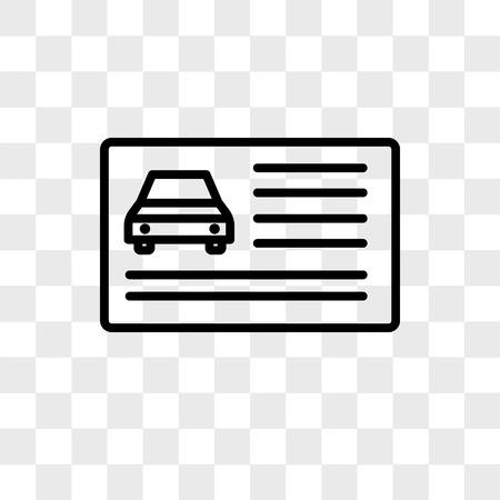 Führerscheinvektorikone lokalisiert auf transparentem Hintergrund, Führerscheinlogokonzept