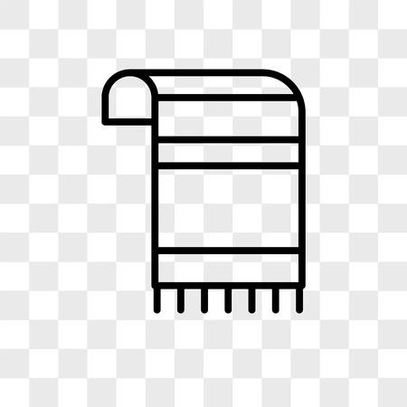 Tallit vector icon isolated on transparent background, Tallit logo concept Logo
