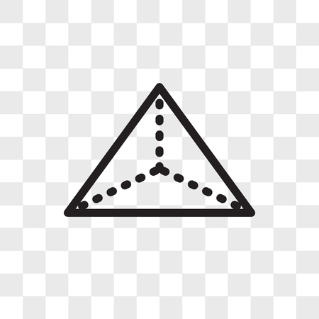 Tetrahedron vector icon isolated on transparent background, Tetrahedron logo concept