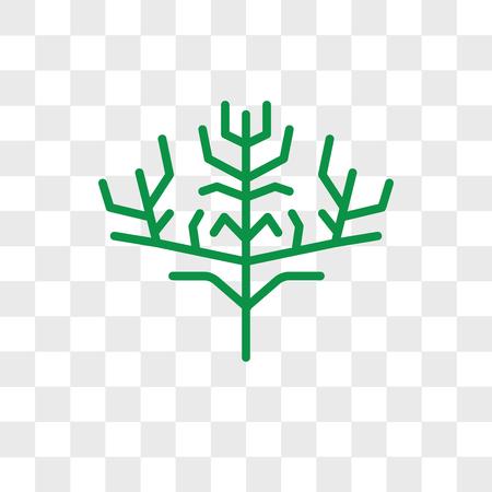 Icône de vecteur de feuille de cyprès isolé sur fond transparent, concept de logo de feuille de cyprès Logo