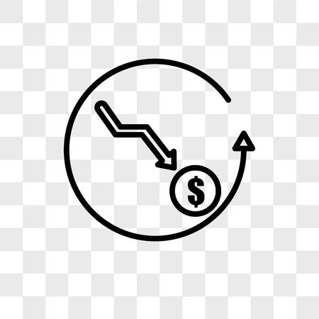 icono de vector más barato aislado sobre fondo transparente, concepto de logotipo más barato Logos