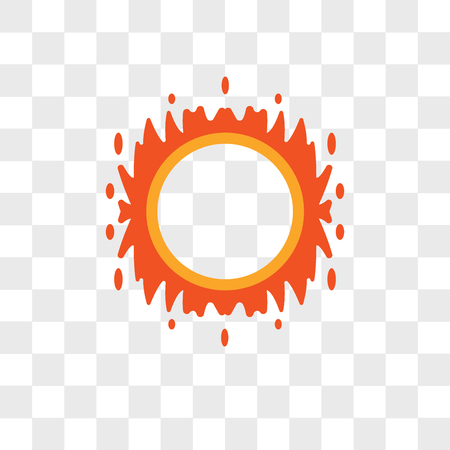 Ring of fire vector icon isolated on transparent background, Ring of fire logo concept
