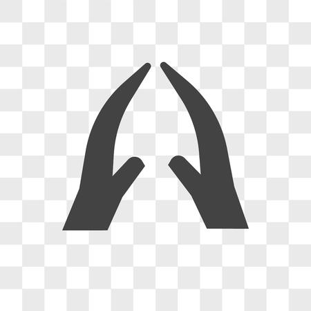 namaste vector icon isolated on transparent background, namaste logo concept