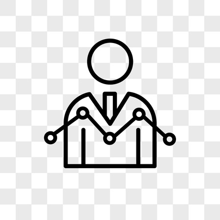 Data Analyser vector icon isolated on transparent background, Data Analyser logo concept Illustration