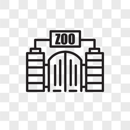 zoo vector icon isolated on transparent background zoo logo