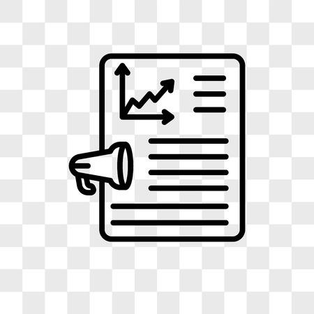 Vector rapportpictogram geïsoleerd op transparante achtergrond, rapport logo concept