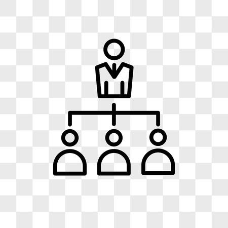 Icône de vecteur de délégation isolé sur fond transparent, concept logo délégation