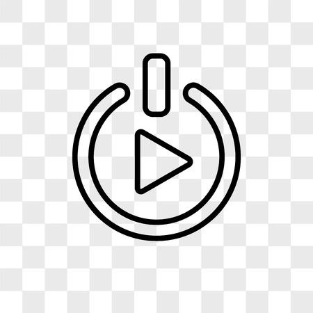 iniziare icona vettore isolato su sfondo trasparente, iniziare il concetto di logo