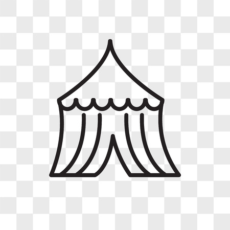 Tent vector icon isolated on transparent background, Tent logo concept