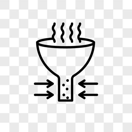 bottleneck vector icon isolated on transparent background, bottleneck logo concept