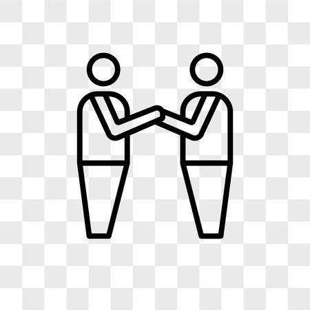 brotherhood vector icon isolated on transparent background, brotherhood logo concept Illustration