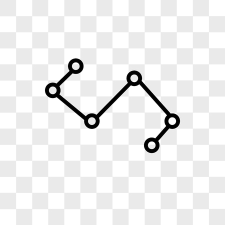 Nodes connections interface vector icon isolated on transparent background, Nodes connections interface logo concept