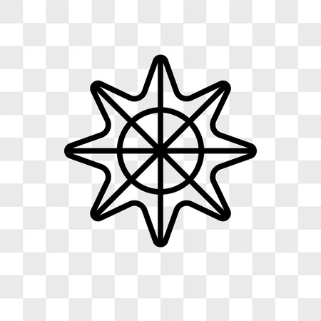 Star of sea fivepointed shape vector icon isolated on transparent background, Star of sea fivepointed shape logo concept