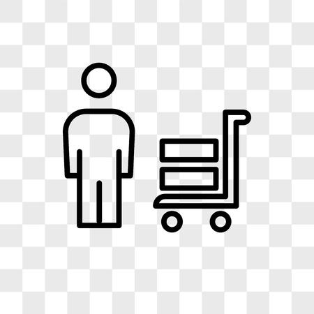 leveranciers vector pictogram geïsoleerd op transparante achtergrond, leveranciers logo concept