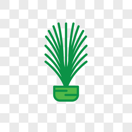 Larch leaf vector icon isolated on transparent background, Larch leaf logo concept Vettoriali
