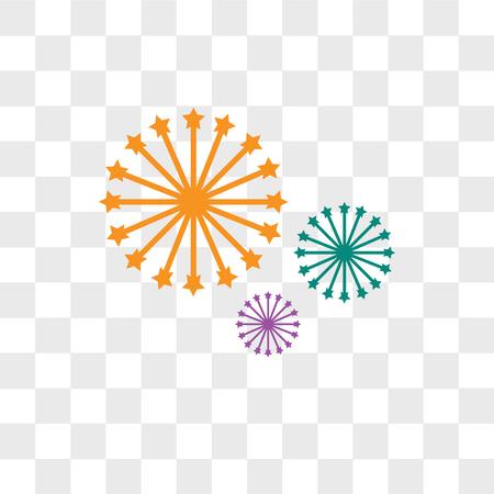 Icona di vettore di fuochi d'artificio isolato su sfondo trasparente, concetto di marchio di fuochi d'artificio Vettoriali