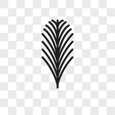 Icône de vecteur de feuille d'if isolé sur fond transparent, concept de logo de feuille d'if