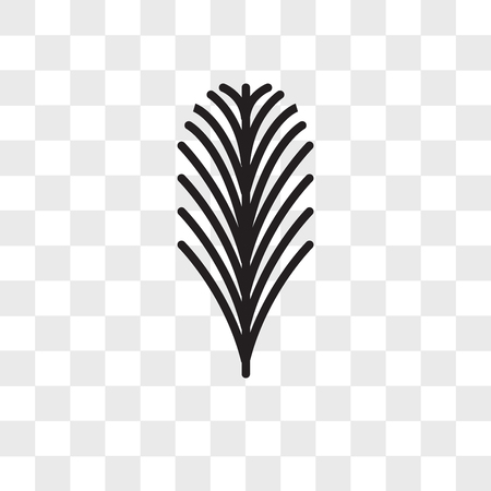 Yew leaf vector icon isolated on transparent background, Yew leaf logo concept