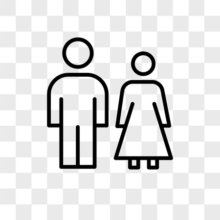 family law vector icon isolated on transparent background, family law logo concept 版權商用圖片 - 108639425