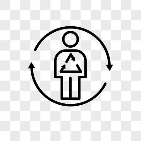 icône de vecteur de métabolisme isolé sur fond transparent