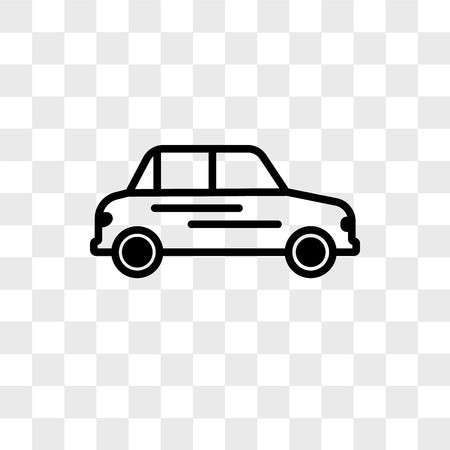 Car vector icon isolated on transparent background, Car logo concept Logo
