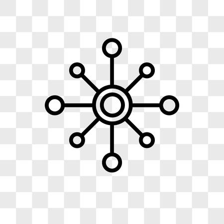 icône de vecteur multicanal isolé sur fond transparent, concept logo multicanal