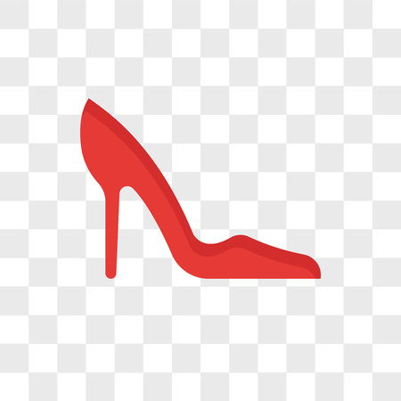 Heel vector icon isolated on transparent background, Heel logo concept Illustration
