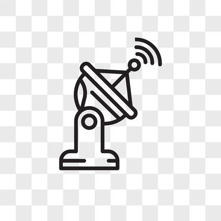 Satellietschotel vector pictogram geïsoleerd op transparante achtergrond, satellietschotel logo concept
