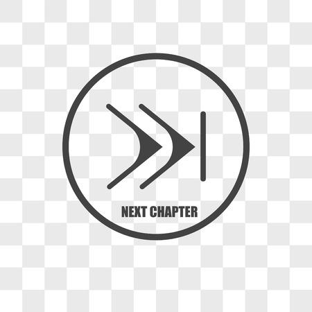 Icône de vecteur de chapitre isolé sur fond transparent, concept logo chapitre