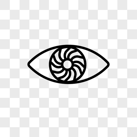 hypnosis vector icon isolated on transparent background, hypnosis logo concept Illustration